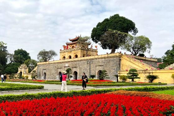 Hoàng Thành Thăng Long- một trong những điểm đến tại Thủ đô thu hút rất đông khách du lịch tham quan, trải nghiệm