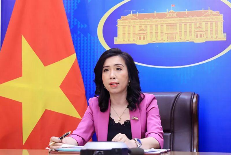 Người phát ngôn Bộ Ngoại giao Lê Thị Thu Hằng thẳng thắn bác bỏ báo cáo của Freedom House. Ảnh: BNG