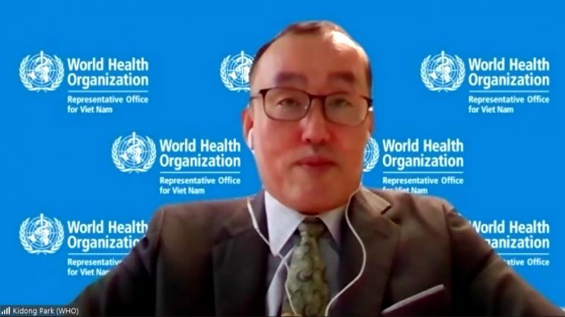 Tiến sĩ Kidong Park, Trưởng đại diện WHO tại Việt Nam, phát biểu tại hội thảo