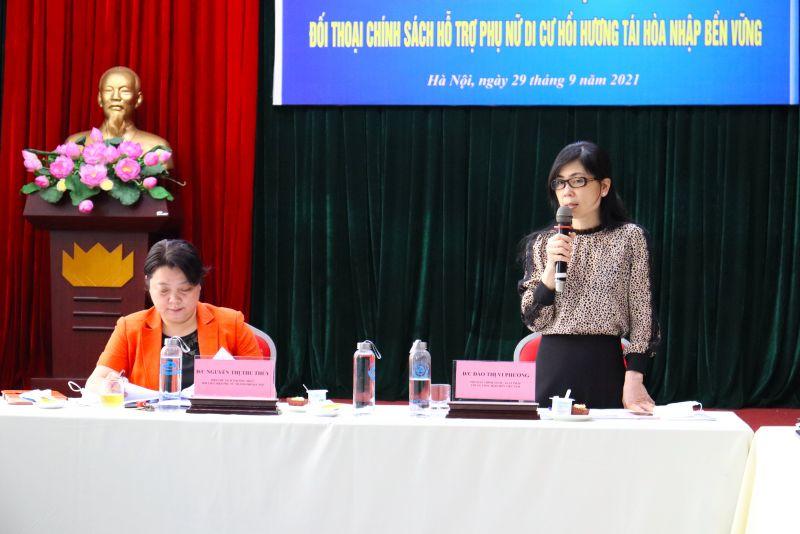 Lãnh đạo Hội LHPN Việt Nam và lãnh đạo Hội LHPN TP Hà Nội chủ trì buổi tuyên truyền