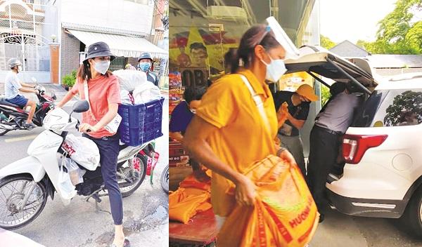 Hoa hậu H'Hen Niê làm shipper, bốc vác hỗ trợ người dân