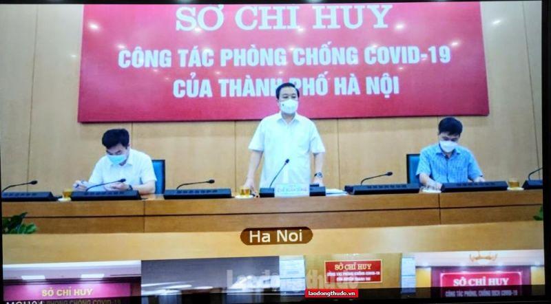 Phó Chủ tịch UBND thành phố Hà Nội Chử Xuân Dũng phát biểu kết luận cuộc họp