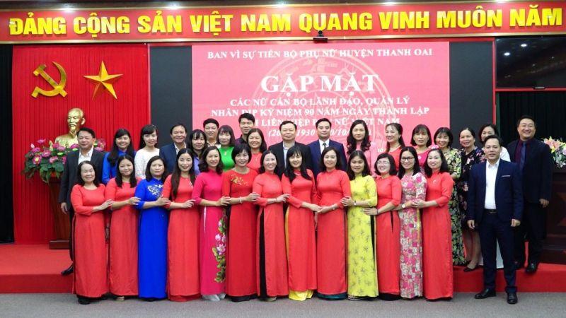 Ban Vì sự tiến bộ phụ nữ huyện Thanh Oai gặp mặt nữ cán bộ, lãnh đạo quản lý huyện nhân kỷ niệm 90 năm ngày thành lập Hội LHPN Việt Nam