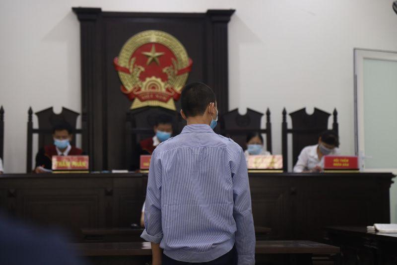 Bị cáo Nguyễn Quốc Khánh tại tòa