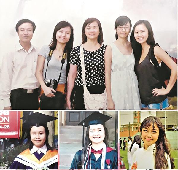 Gia đình hạnh phúc của chị Vũ Kim Thoa với 3 con gái thành đạt