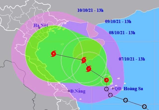 Dự báo vị trí và đường đi của ATNĐ, bão trên Biển Đông.