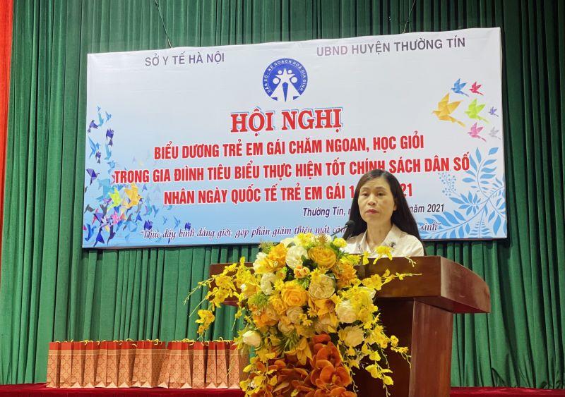 bà Nguyễn Minh Xuân, Phó Chi cục trưởng Chi cục Dân số - KHHGĐ TP Hà Nội
