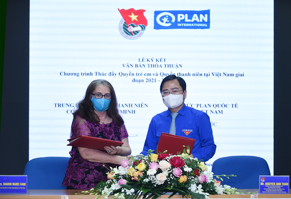Lễ ký kết văn bản hợp tác giữa Trung ương Đoàn và Tổ chức Plan