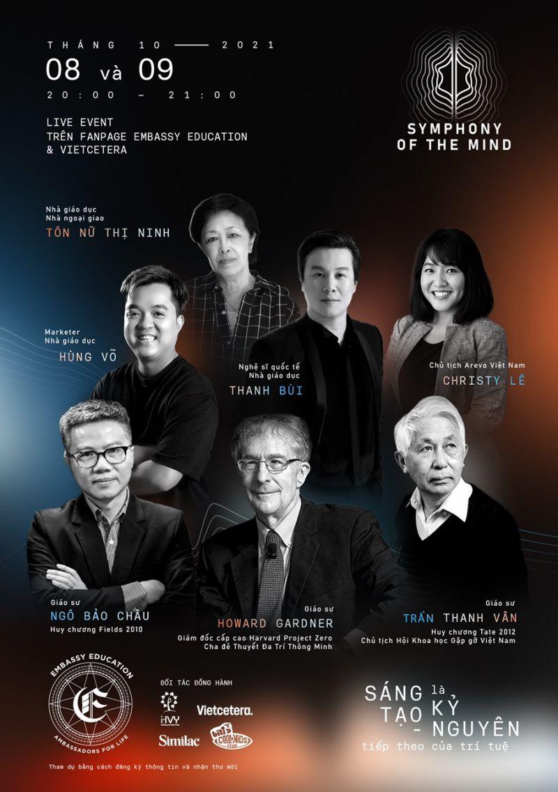 """Học giả, chuyên gia Việt Nam và quốc tế hội tụ tại hội nghị thường niên về giáo dục """"BẢN HÒA CA TRÍ TUỆ"""" (Symphony of the mind) với chủ đề """"Sáng tạo là kỷ nguyên tiếp theo của trí tuệ"""", diễn ra vào 2 ngày 8-9/10"""
