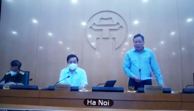 Đồng chí Nguyễn Văn Phong, Phó Bí thư Thành  ủy Hà Nội phát biểu tại Hội nghị