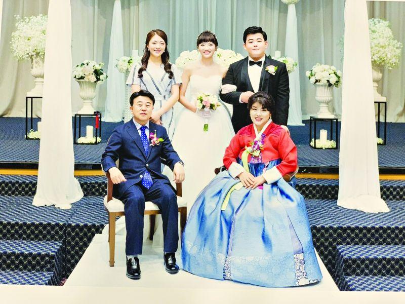Ảnh cưới Việt-Hàn của vợ chồng chị Trần Thị Luyên và anh Lee Chang Min Ảnh: NVCC